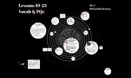 Lessons 19-23 Prezi