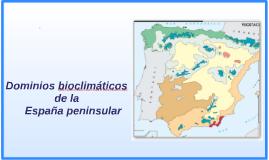 dominios bioclimáticos de la España peninsular