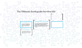 "The ""Everything You Need"" Earthquake Survival Kit"