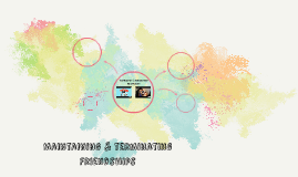 Maintaining & terminating Friendships
