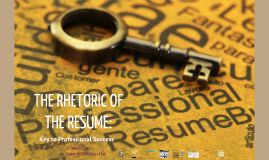 COM/ENG 338: The Rhetoric of the Resume