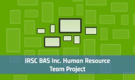 IRSC BAS Inc. Human Resource Department