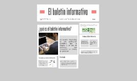 El boletín informativo