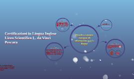 Liceo Da Vinci Pescara - Quadro comune europeo di riferimento per le lingue