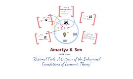 Copy of Behavioral Economics - Amartya Sen