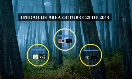 UNIDAD DE ÁREA OCTUBRE 23 DE 2013