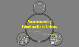 Almacenamiento y Estructuración de Archivos