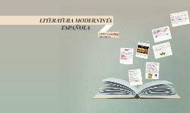 LITERATURA MODERNISTA ESPAÑOLA