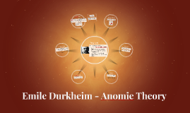 a description of anomie theory of Institutional anomie theory  the strain theory of suicide is based on the theoretical frameworks established by previous sociologists, eg durkheim (1951), merton .