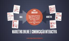 MARKETING ONLINE E COMUNICAÇÃO INTERACTIVA