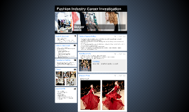 Fashion Industry Career Investigation