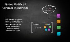 Administración de empresas de servicios