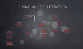 TRADIZIOZKO LITERATURA