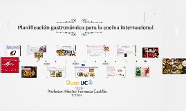 Planificación gastronómica  para la cocina clásica PGC3301