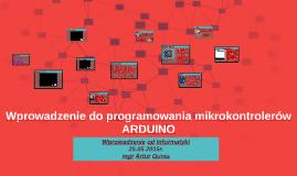 2015 Wprowadzenie do programowania mikrokontrolerów