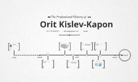 Timeline Prezumé by Orit Kapon