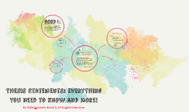 Thesis Statements: Everything You Need to Know and More!