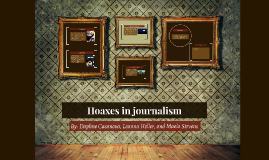 Hoaxes in journalism