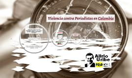Violencia contra Periodistas en Colombia