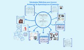 Estrategias Didácticas para Generar Ambientes de Aprendizaje