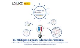 LOMCE paso a paso: Educación Primaria