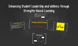 Copy of Enhancing Student Leadership and Wellness through Strengths-