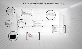ACP US History/English 11H Seminar: Dec. 5 & 7