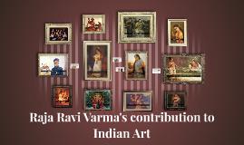 Raja Ravi Varma's contribution to Indian Art
