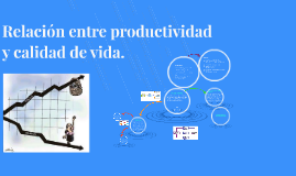 Relación entre productividad y calidad de vida.