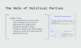 Copy of The Role of Political Parties