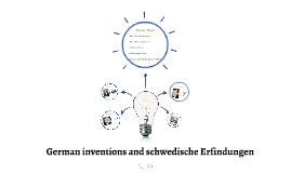German inventions and Schwedische Erfindungen