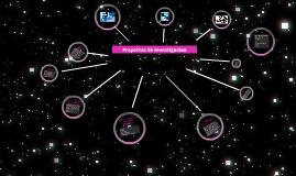Copy of Proyectos de investigacion