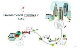 Environmental Invitaties in the UAE