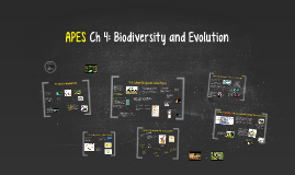 Buford APES Ch 4 Biodiversity and Evolution