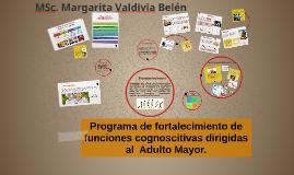 Programa de fortalecimiento de funciones cognoscitivas  en el Adulto Mayor