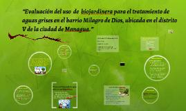 """""""Evaluación del uso  de  biojardinera para el tratamiento de"""
