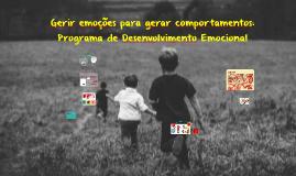 IPCE 2018 Programa de Desenvolvimento Emocional
