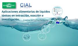 Aplicaciones alimentarias de líquidos iónicos en extracción,