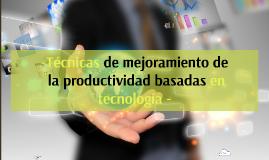 Copy of Copy of Mejoramiento de la Productividad