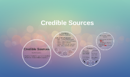 Credible Sources &