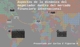 Aspectos de la dinámica del mercado financiero internacional