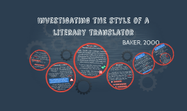 Investigating the style of a literary translator