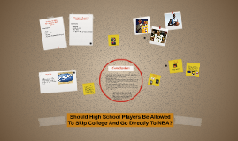 Should High School Players Be Allowed To Skip College And Go