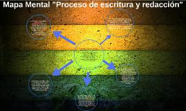 Mapa Mental Proceso de escritura y redacción
