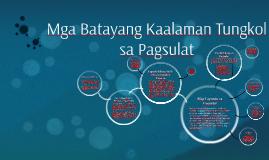 Copy of Mga Batayang Kaalaman tungkol sa Pagsulat