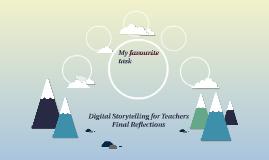 Digital Storytelling for Teachers