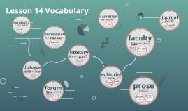 Lesson 14 Vocabulary