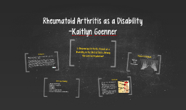 Rheumatoid Arthritis as a Disability
