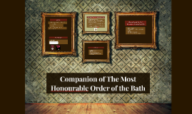 Companion of The Most Honourable Order of the Bath