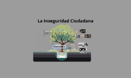 LA INSEGURIDAD CUIDADANA